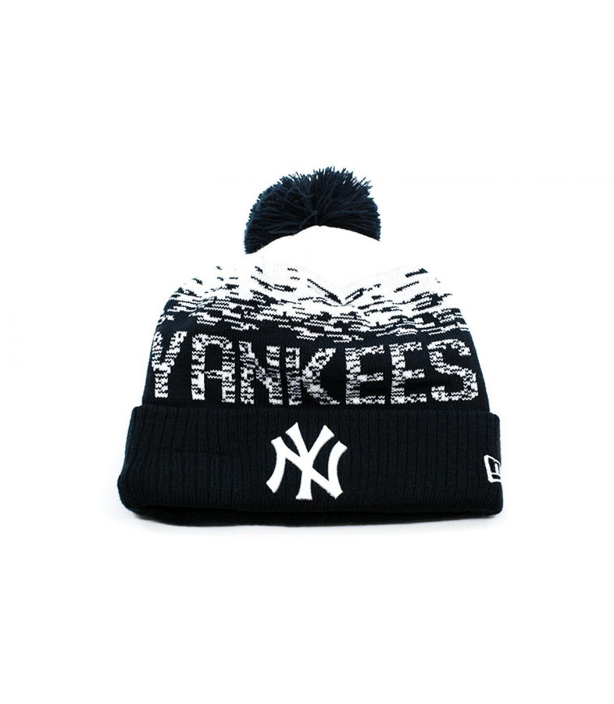 blauwe kwastje motorkap Yankees