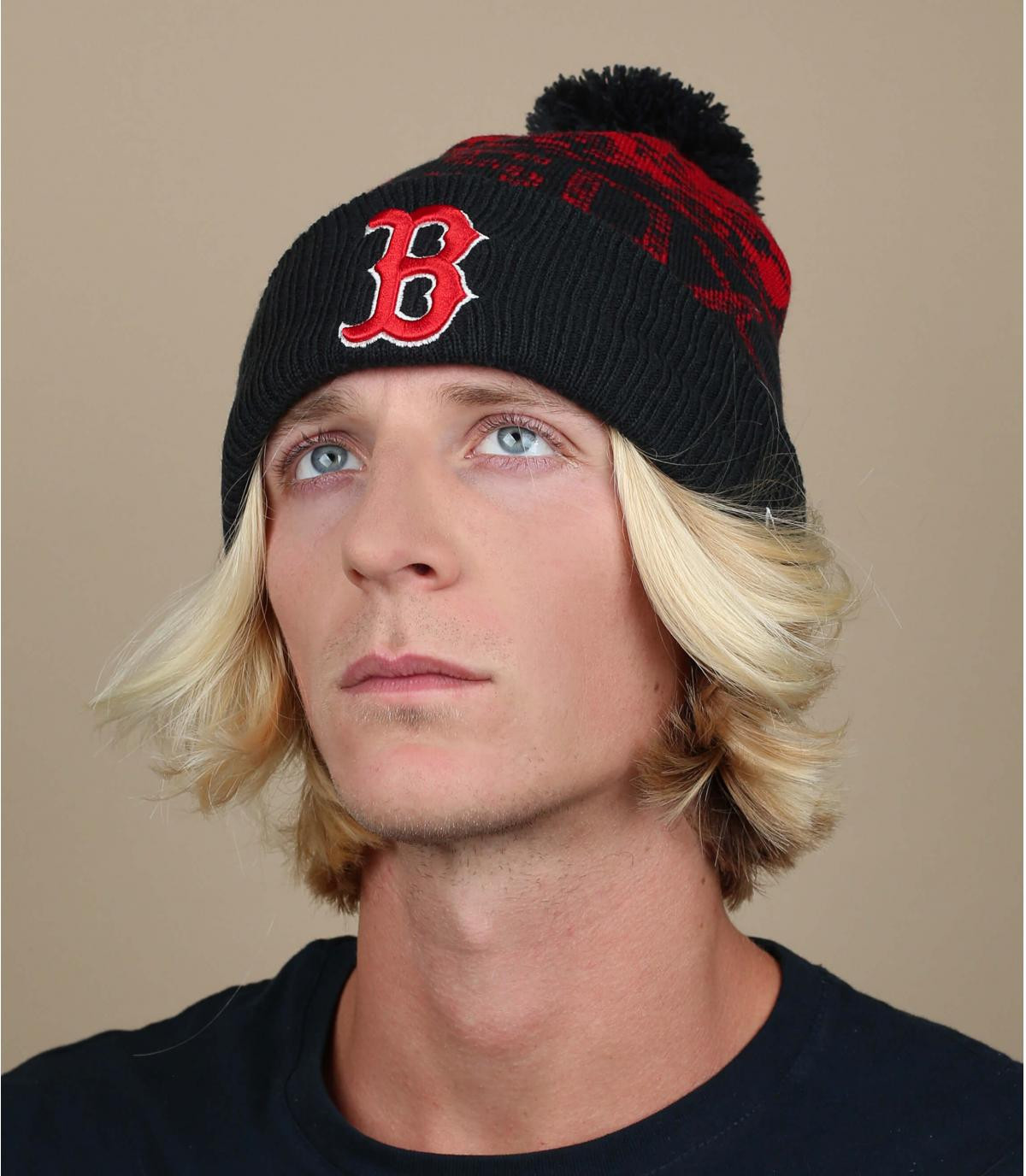Boston rode blauwe hoed