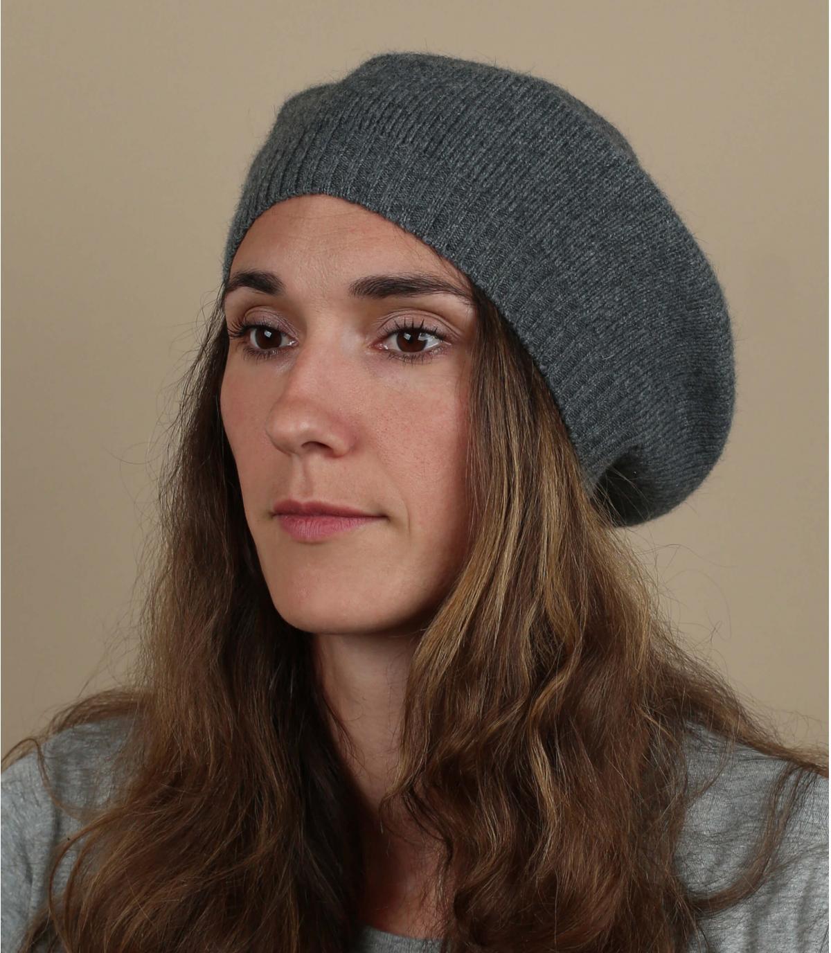 baret baskische grijze wol