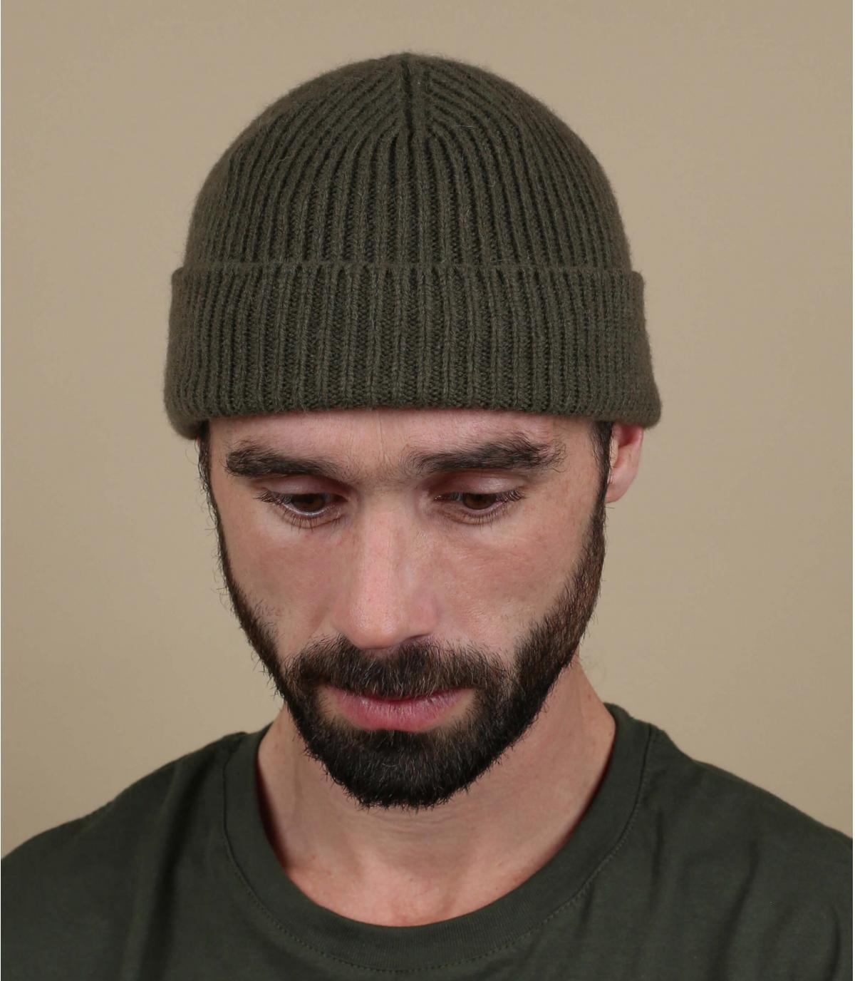 hoed revers groene wol