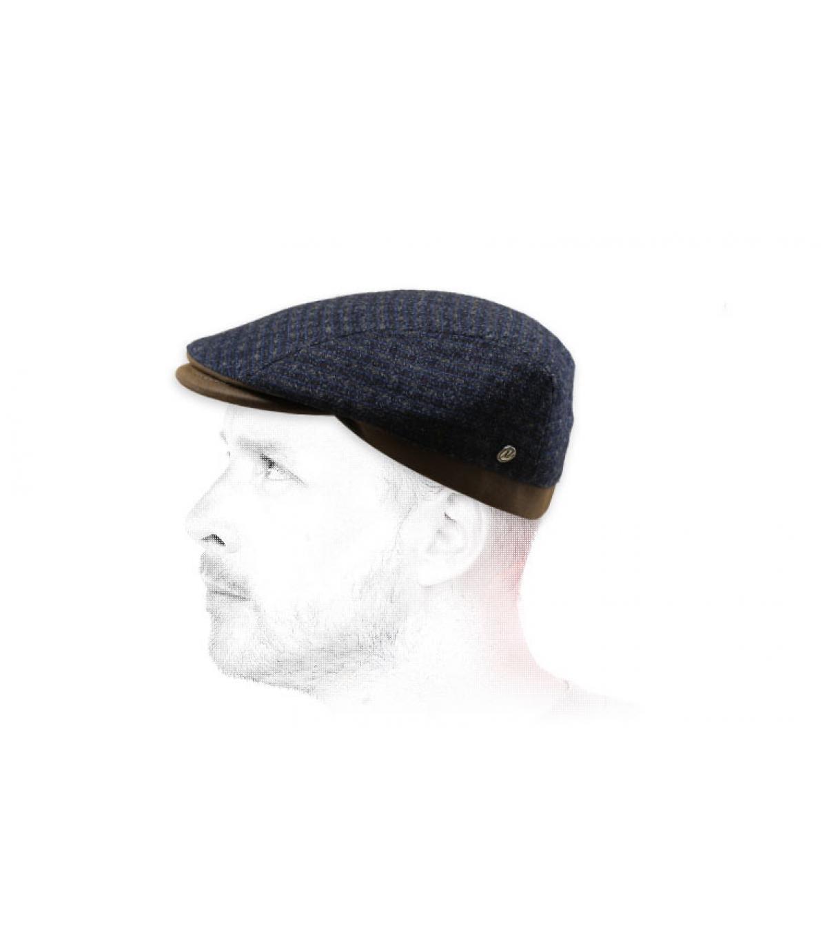 baret grijze wol kasjmier