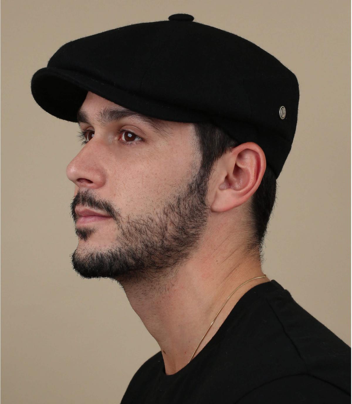 zwarte wollen baret baret