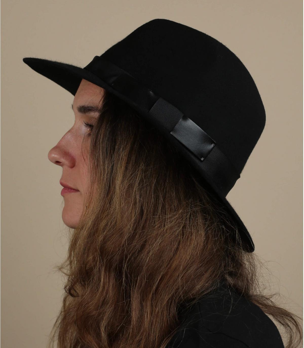 fedora hoed zwart vilt