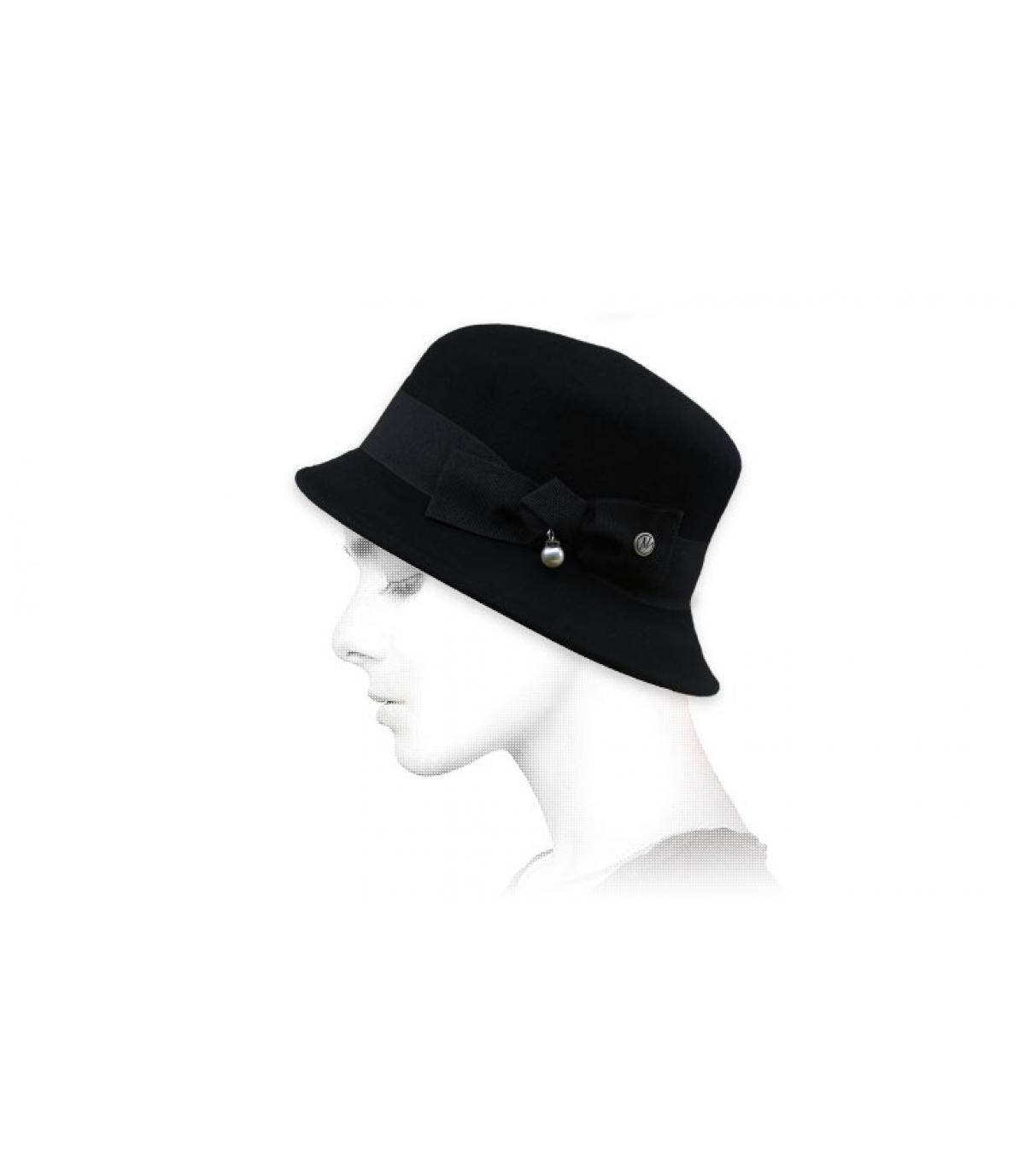 bel zwarte knoop hoed