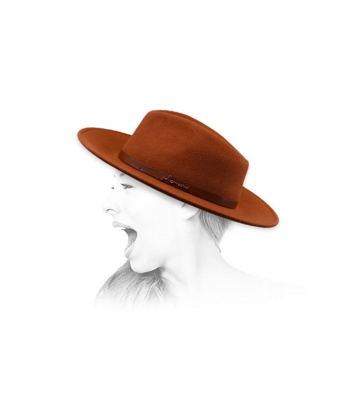 Fedora oranje Herman