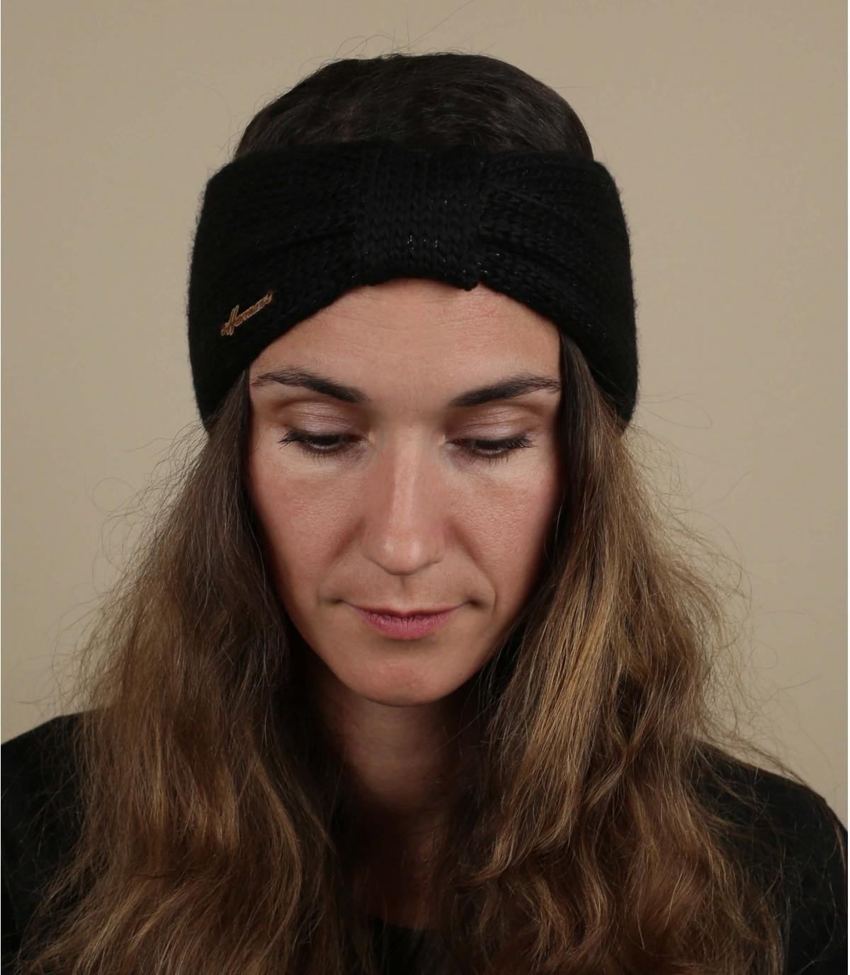 hoofdband zwarte wol lurex