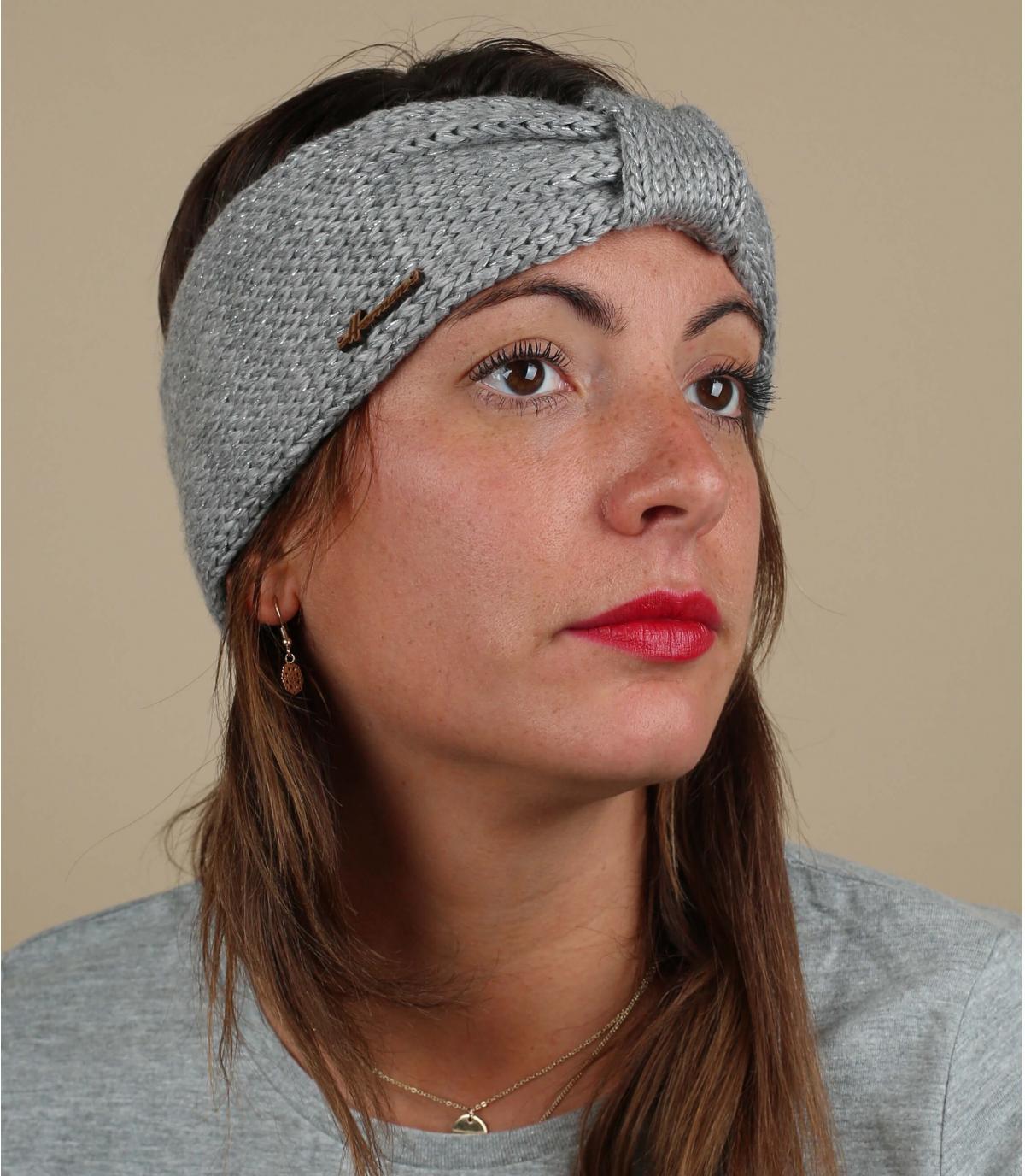 hoofdband grijze wol lurex
