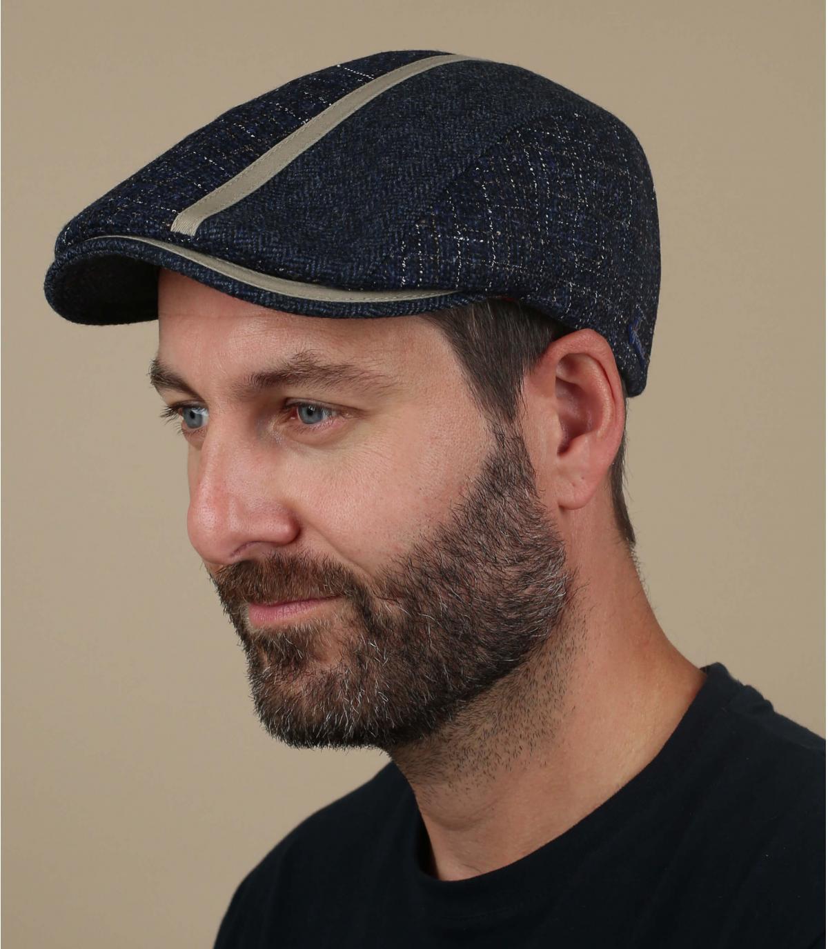 baret blauwe wol Herman