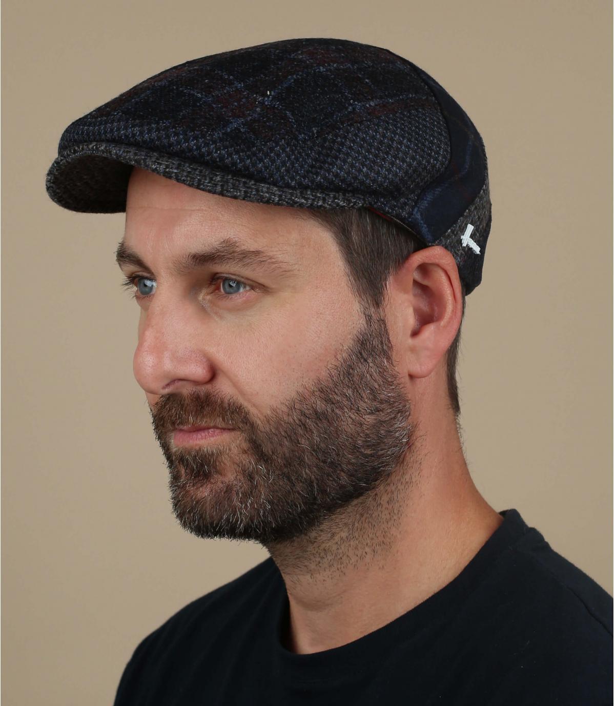 veelkleurige wol baret