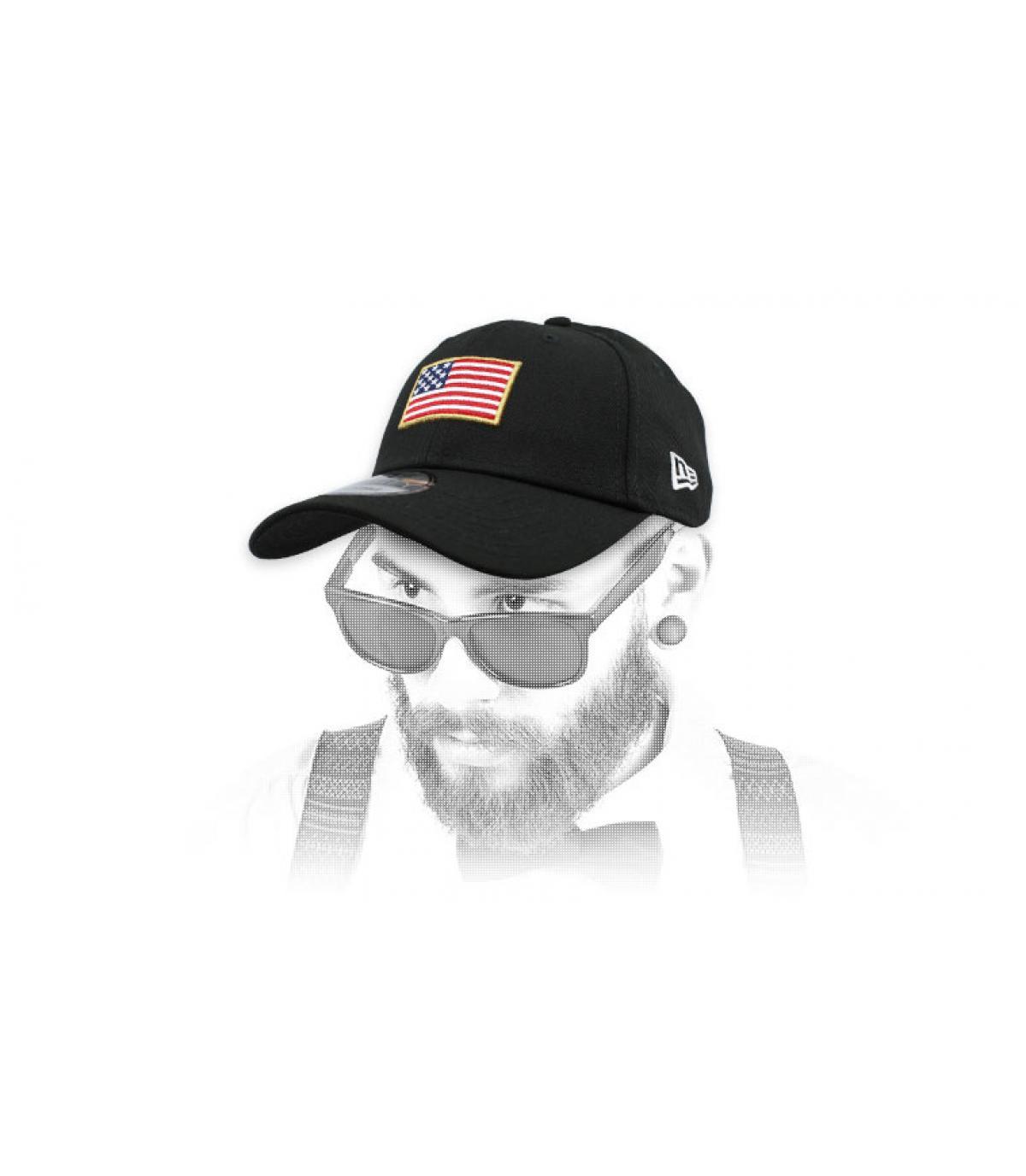 zwarte Amerikaanse vlag cap