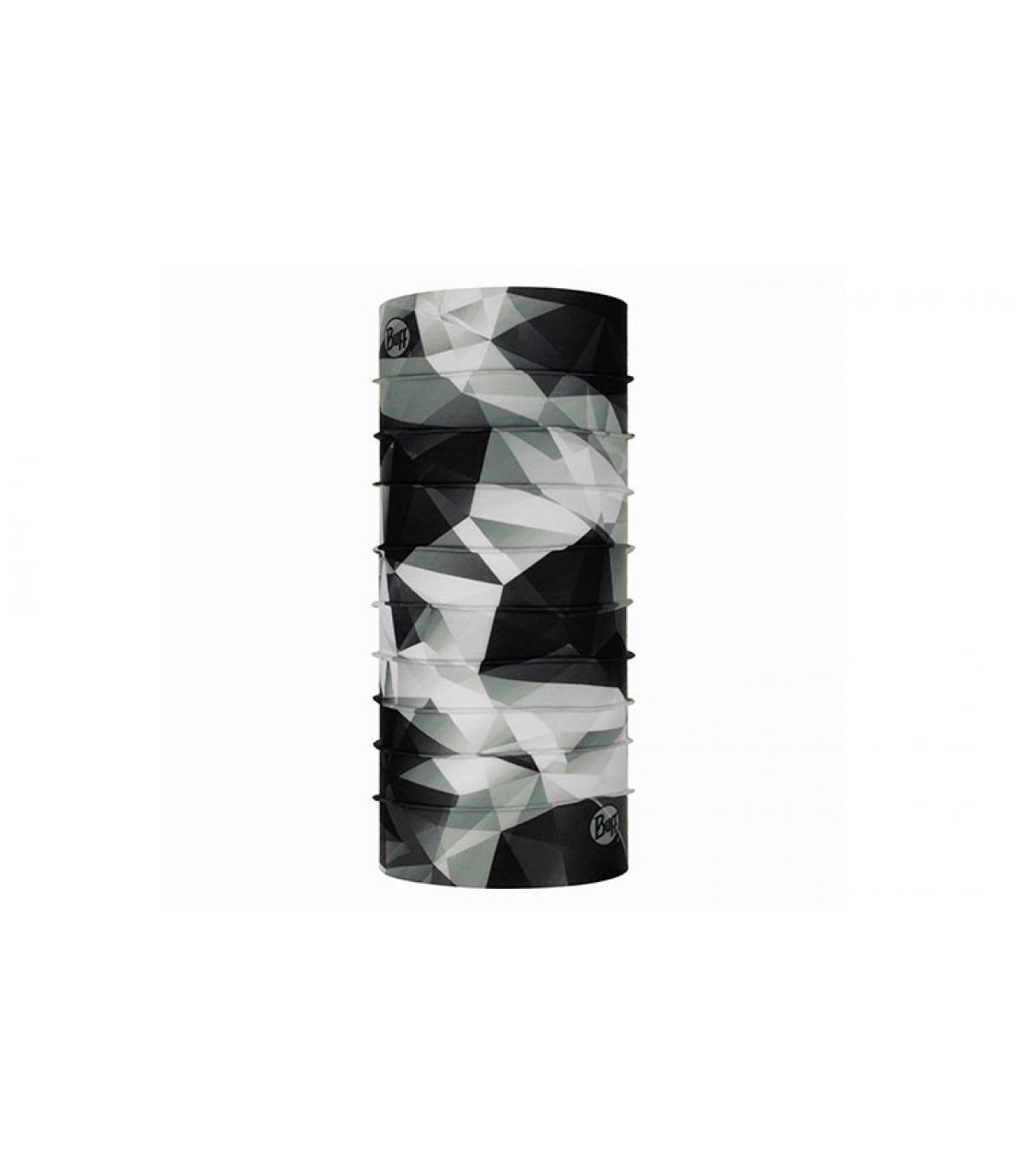 Buff zwart witte geometrische print