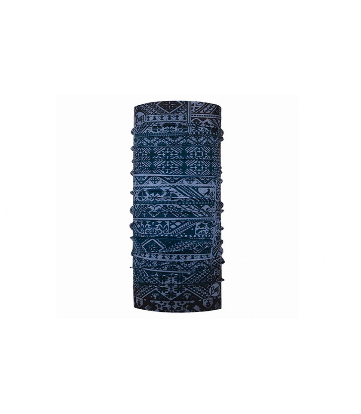 Buff blauw patroon