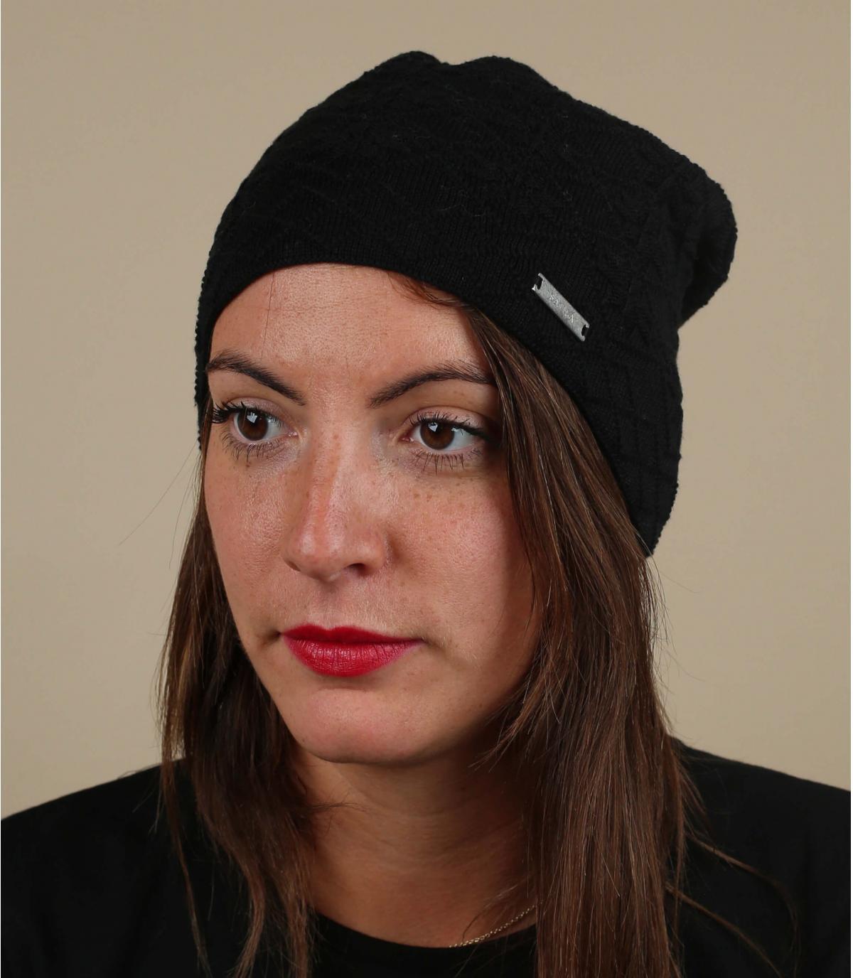 biologisch katoenen hoed zwart
