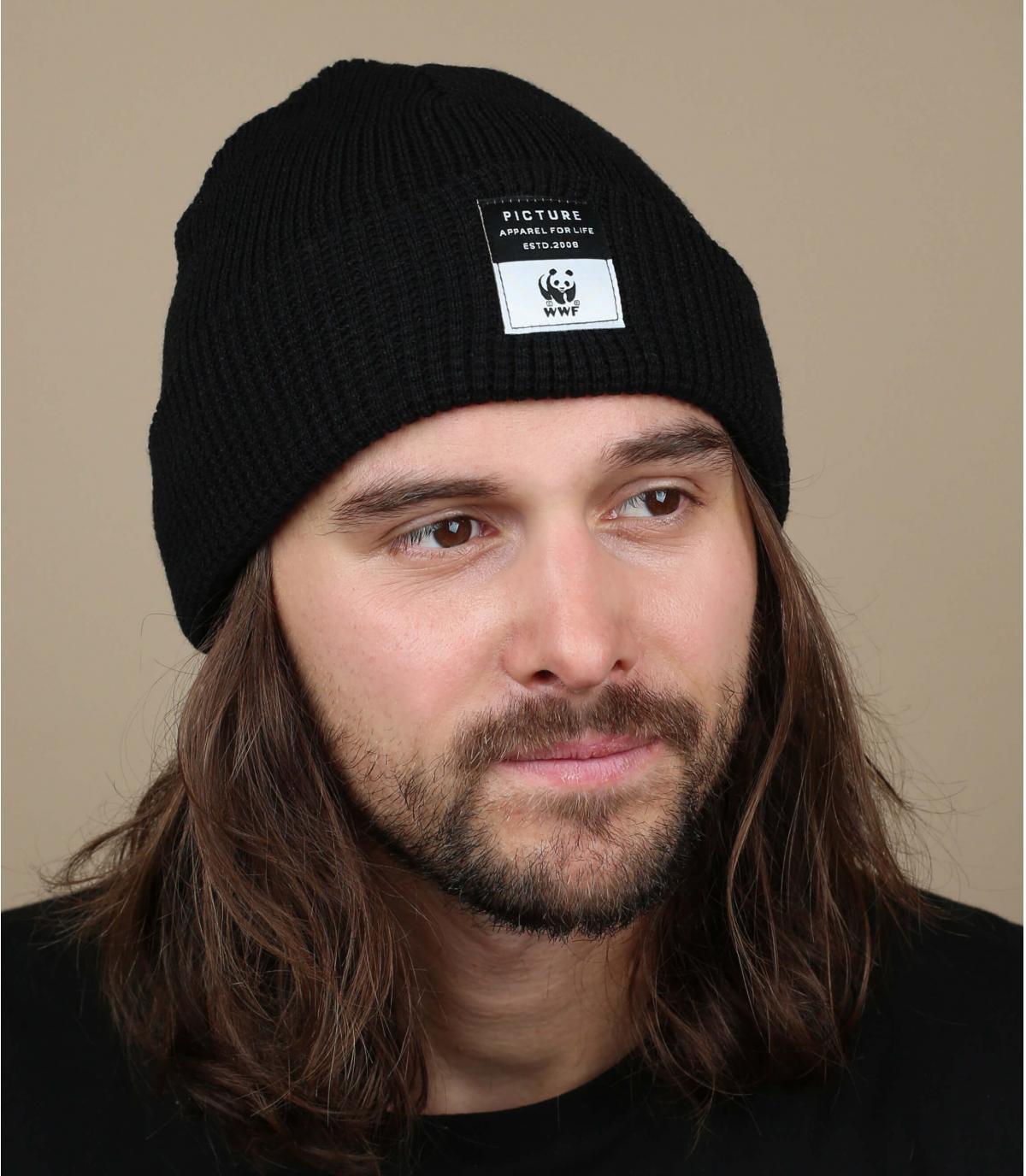 zwarte omkeerbare hoed WWF foto