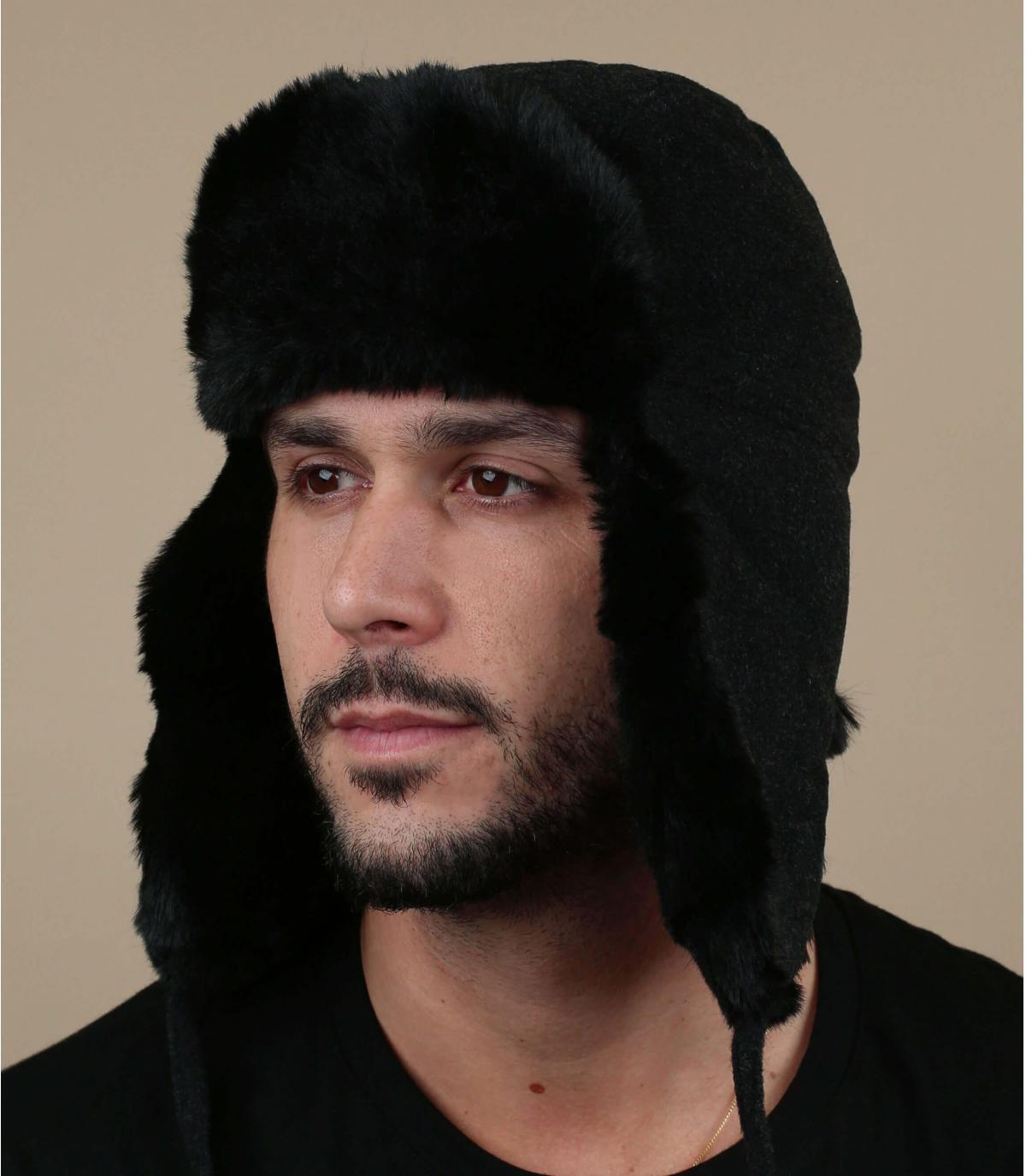grijze kasjmier wollen hoed