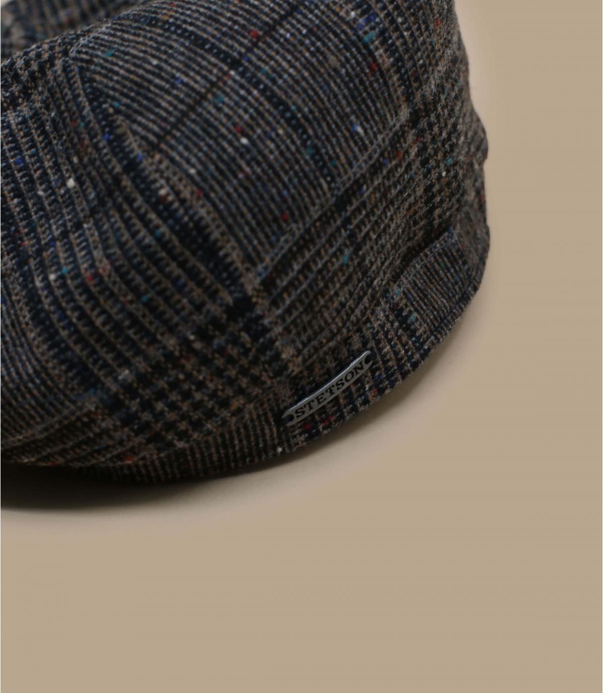 Details Hatteras Wool brown check - afbeeling 2