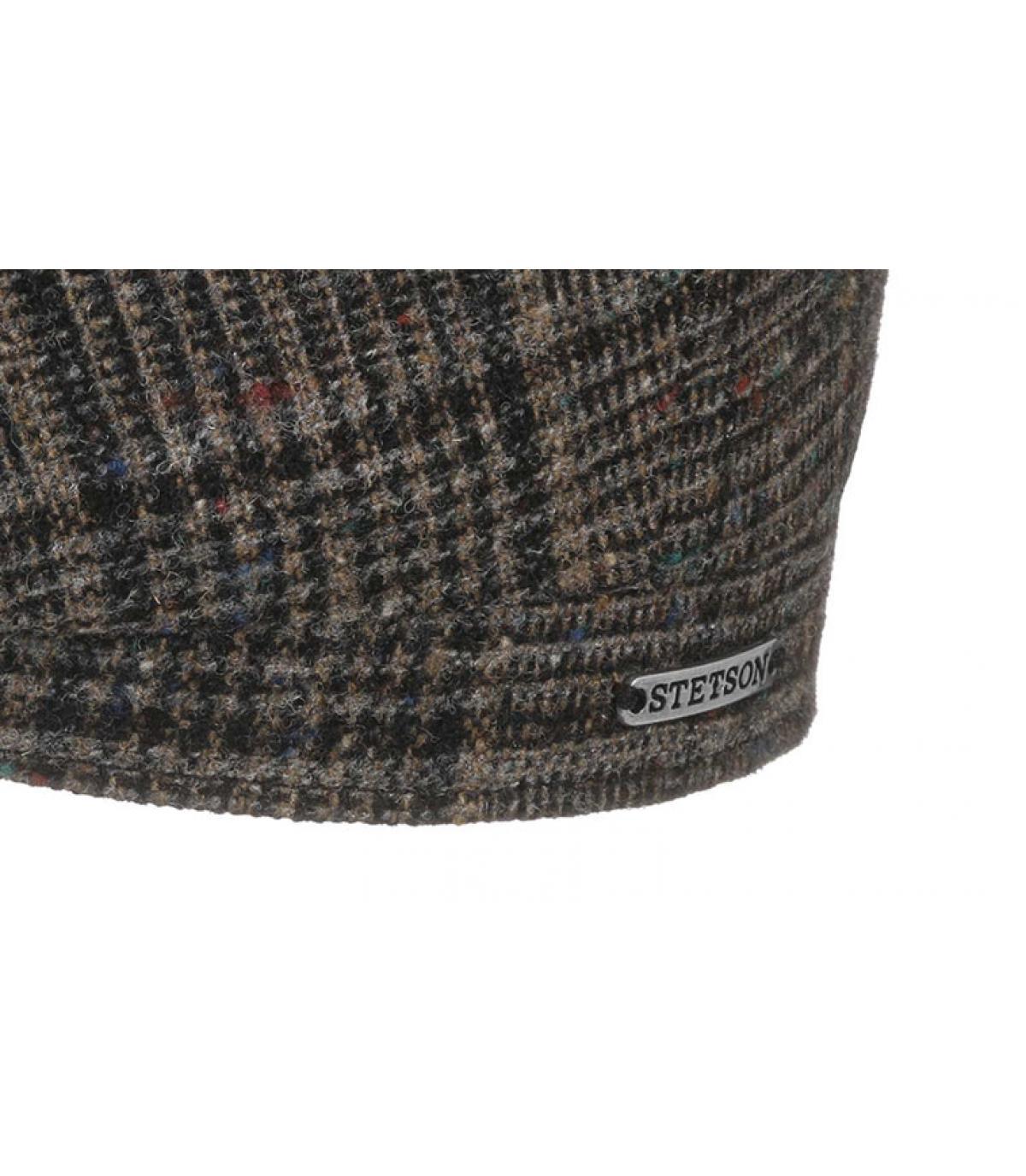 Details Hatteras Wool brown check - afbeeling 3