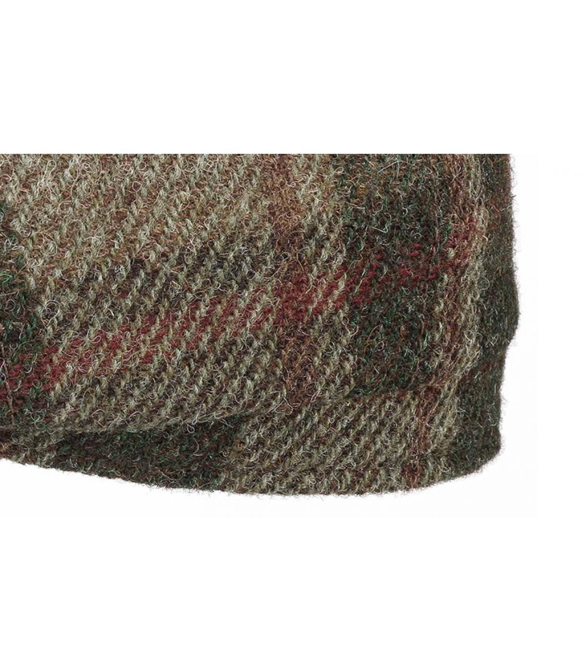 Details Hatteras Virgin Wool check beige olive - afbeeling 3