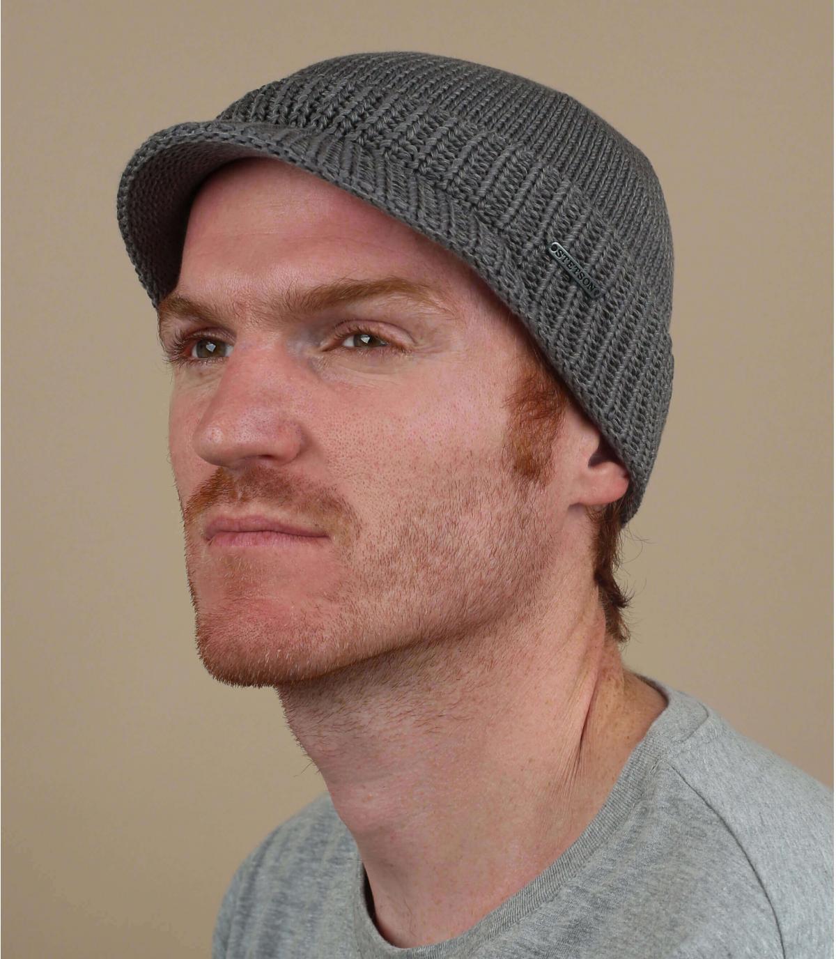 blauwe vizier hoed