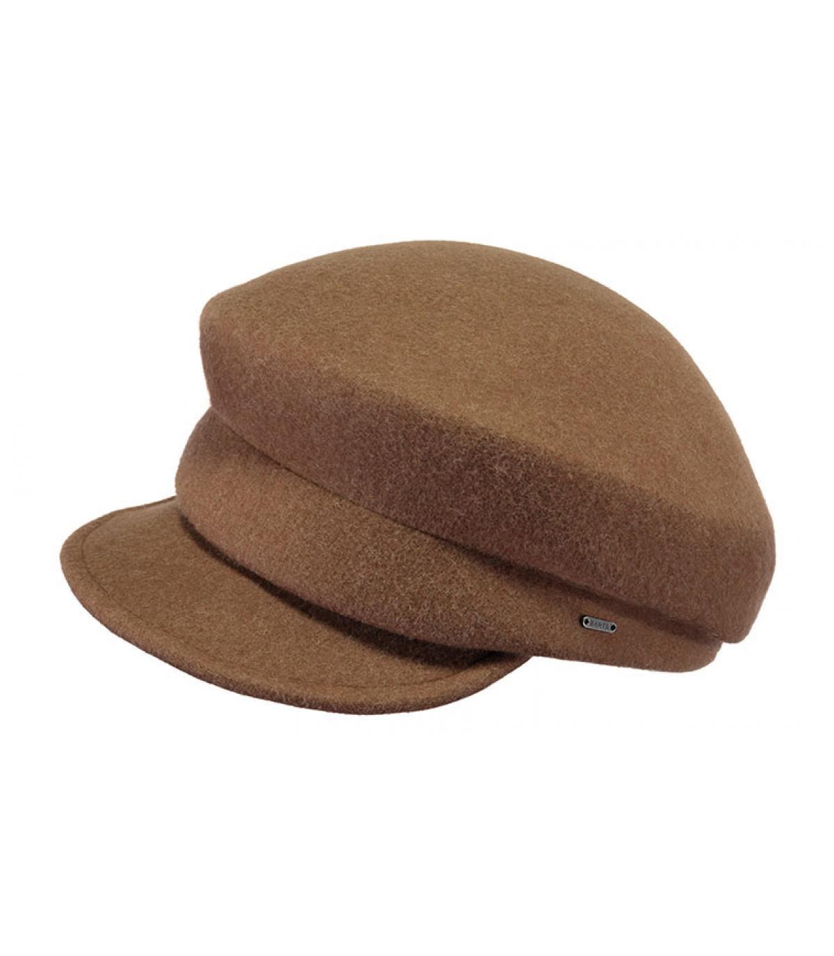 bruine wol baret