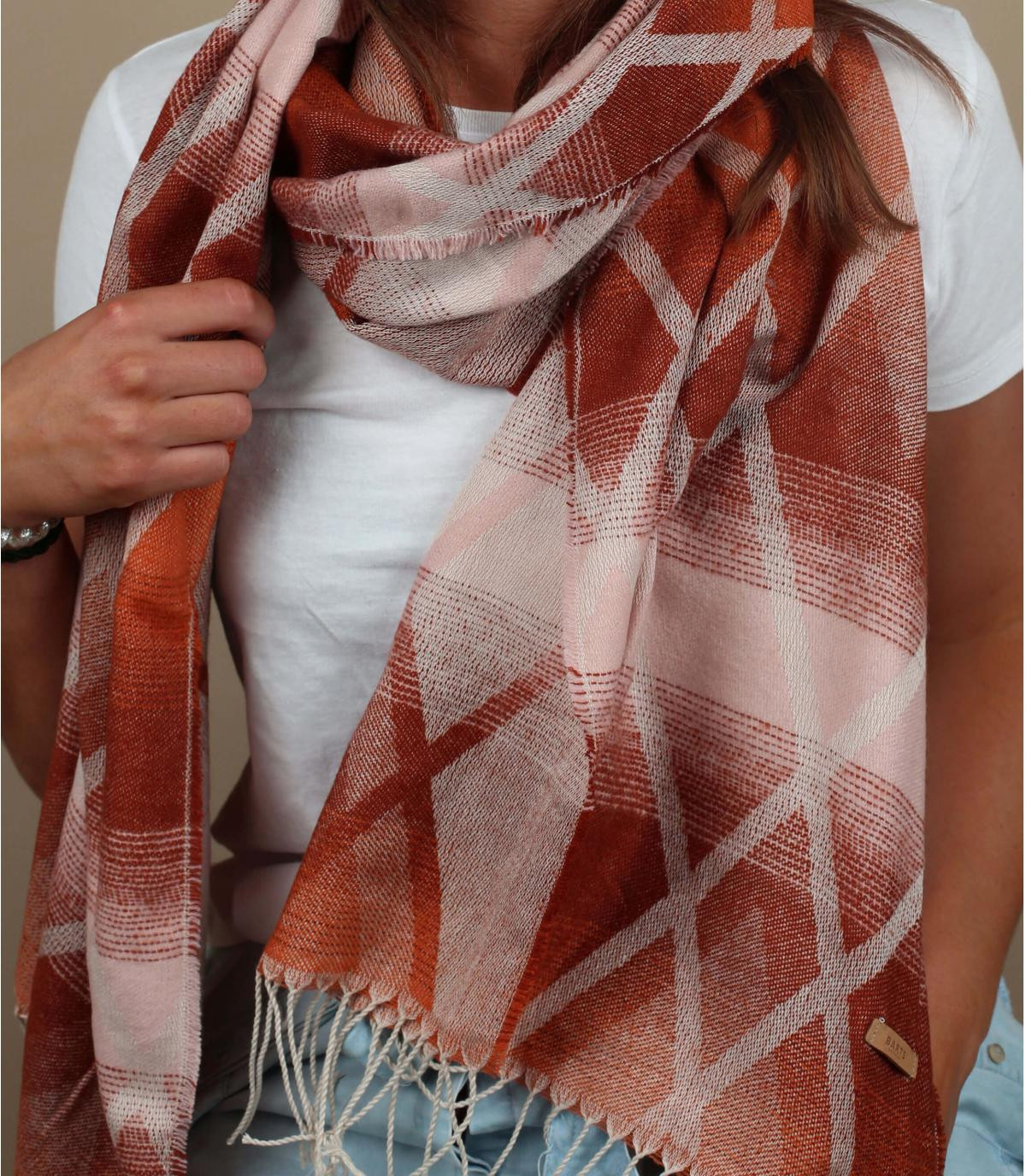 Barts oranje franjes sjaal