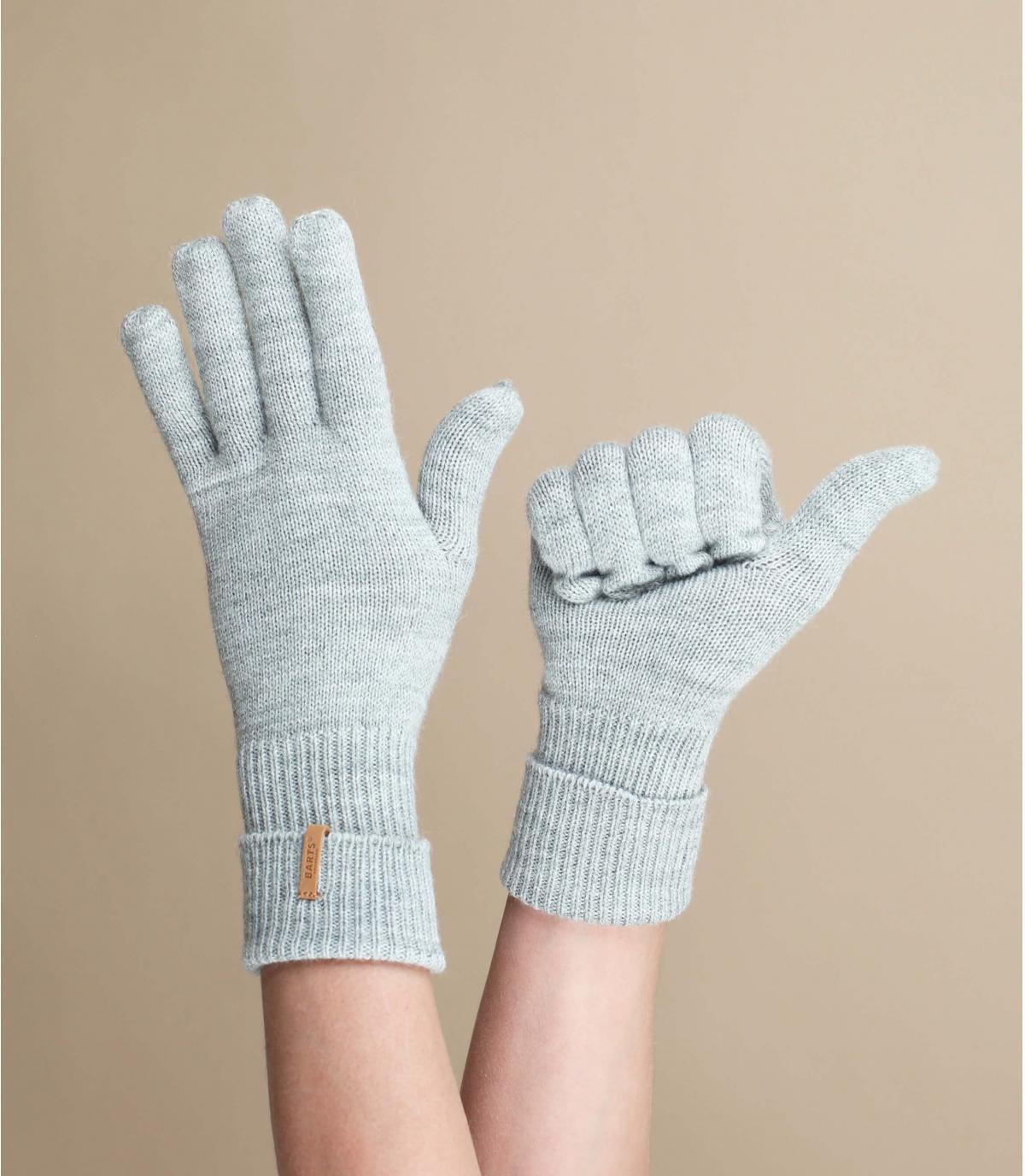grijze heather handschoenen