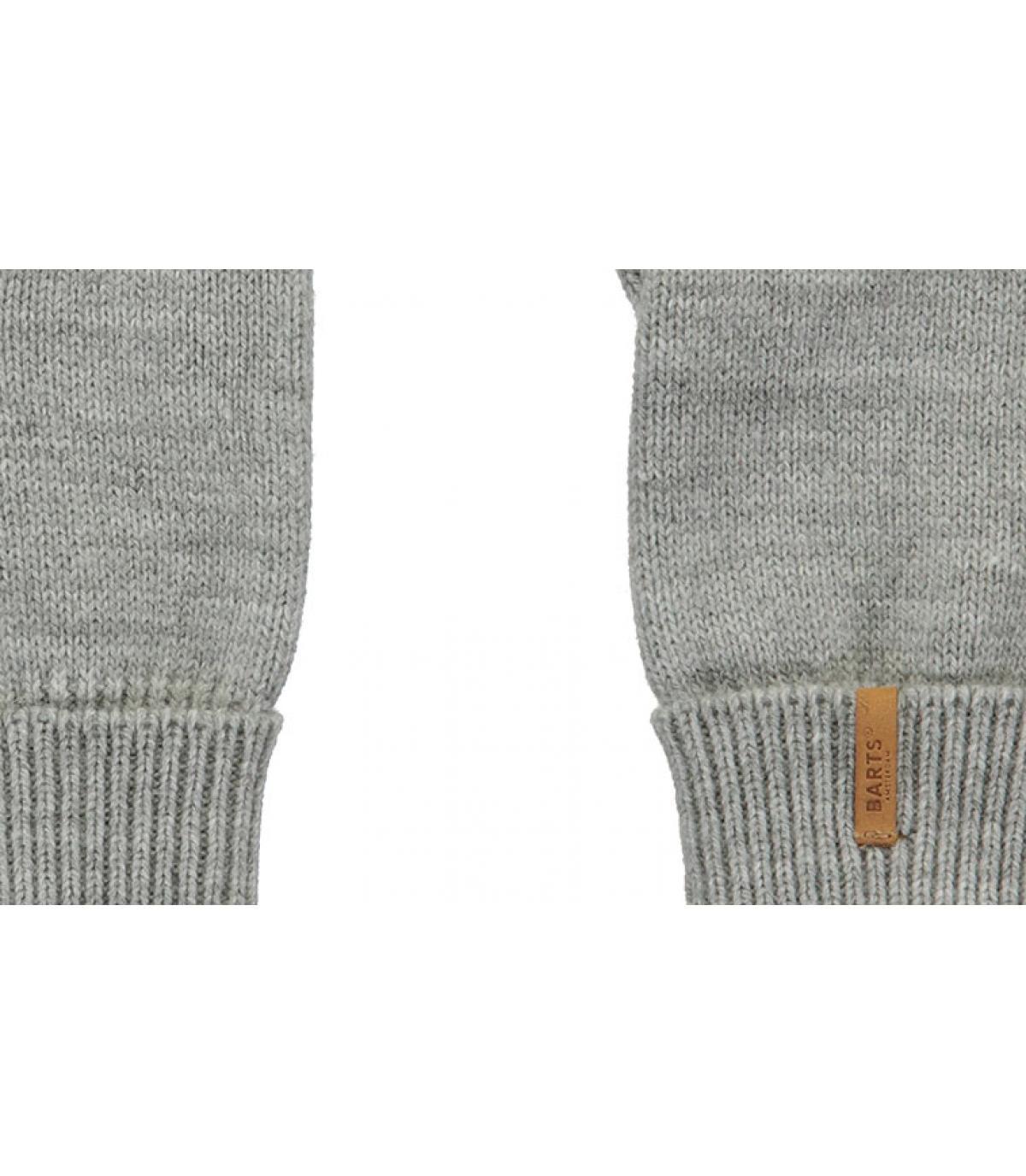 Details Fine Knitted Gloves heather grey - afbeeling 2