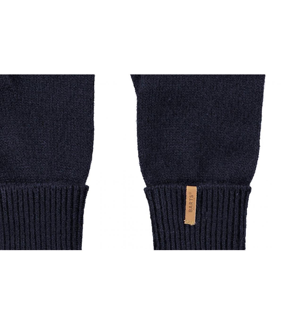 Details Fine Knitted Gloves navy - afbeeling 2