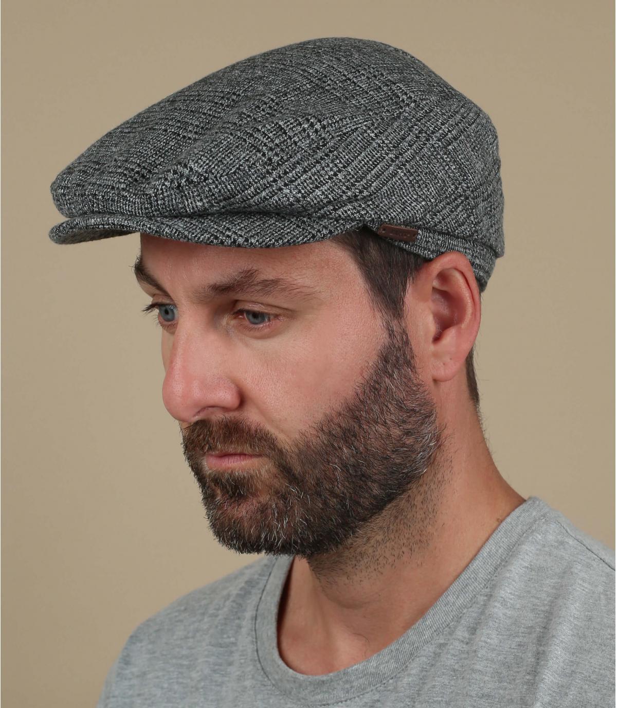 baret grijze wol barts
