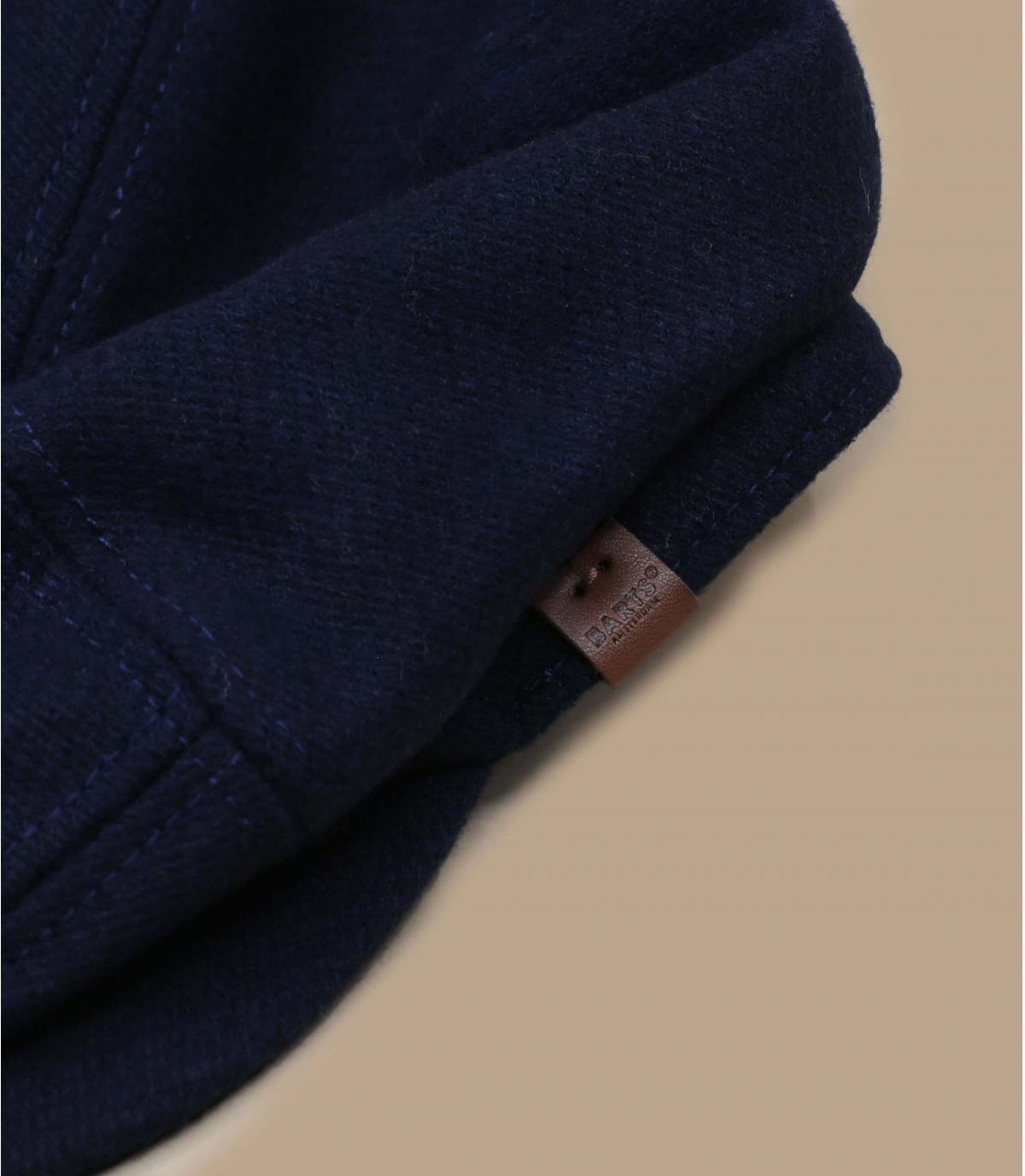 baret blauwe wol