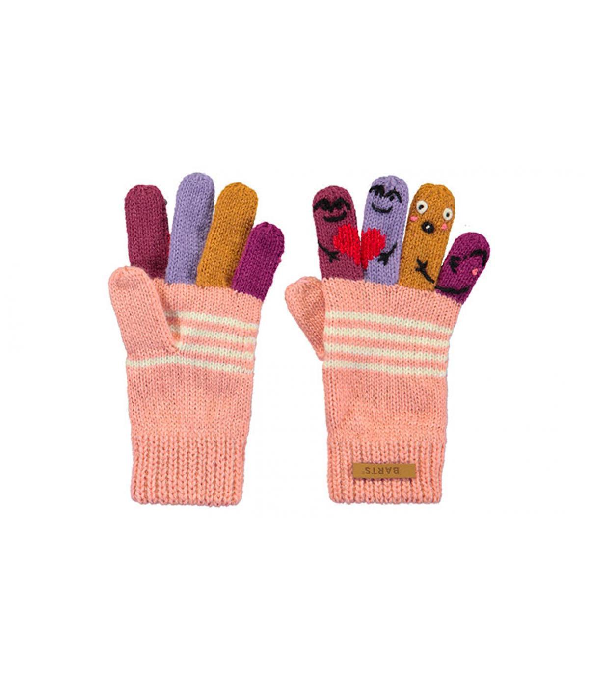 roze kindhand handschoenen