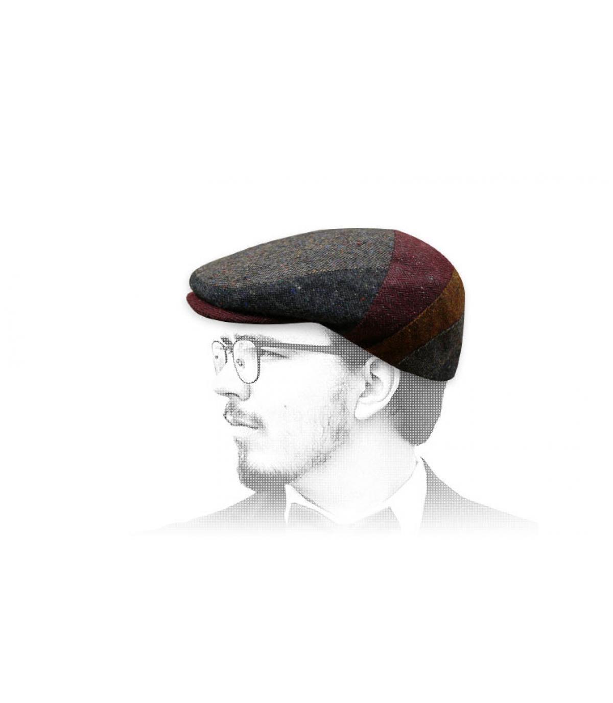 veelkleurige wollen baret Fléchet