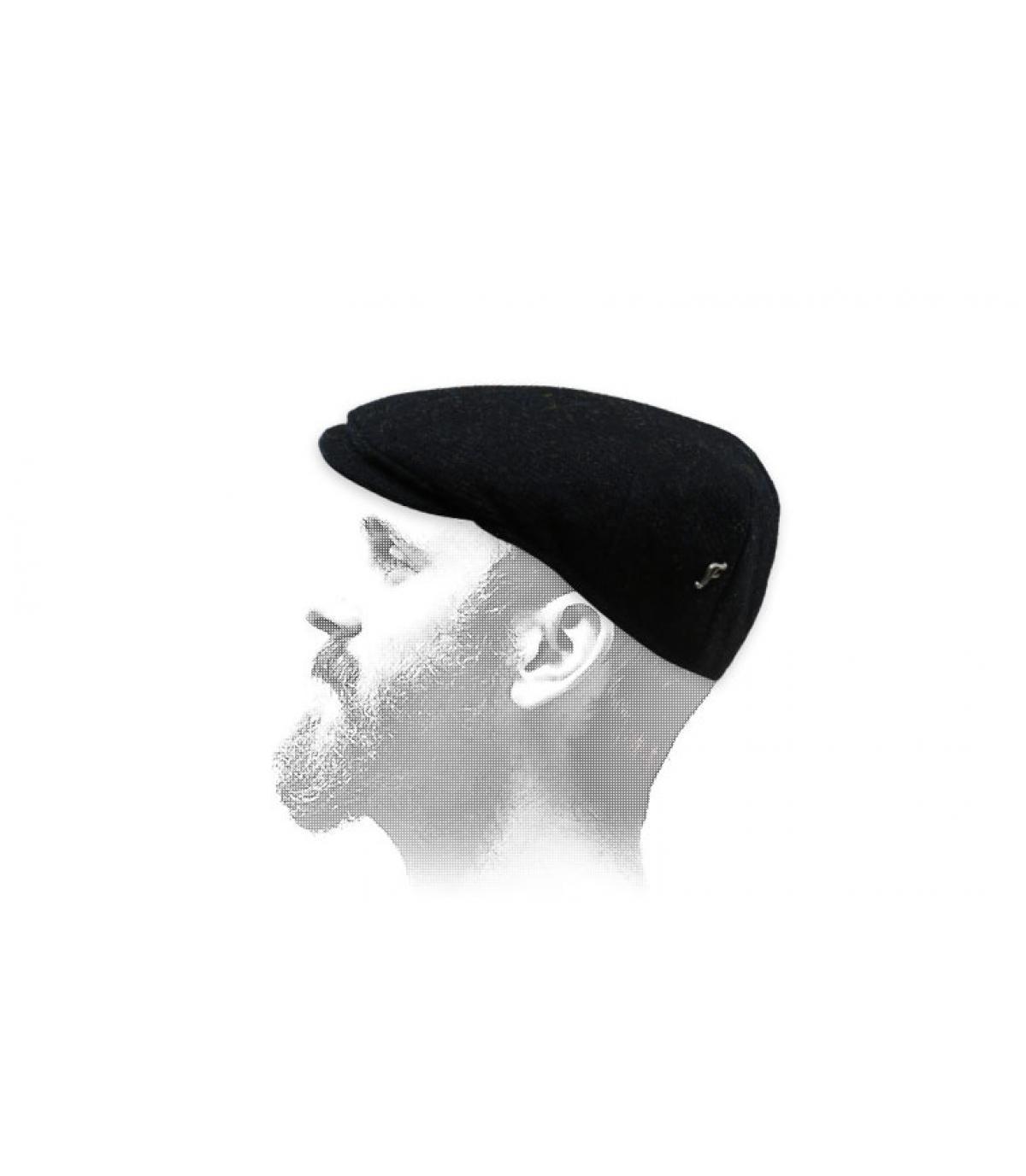 Flechet zwarte tweed baret