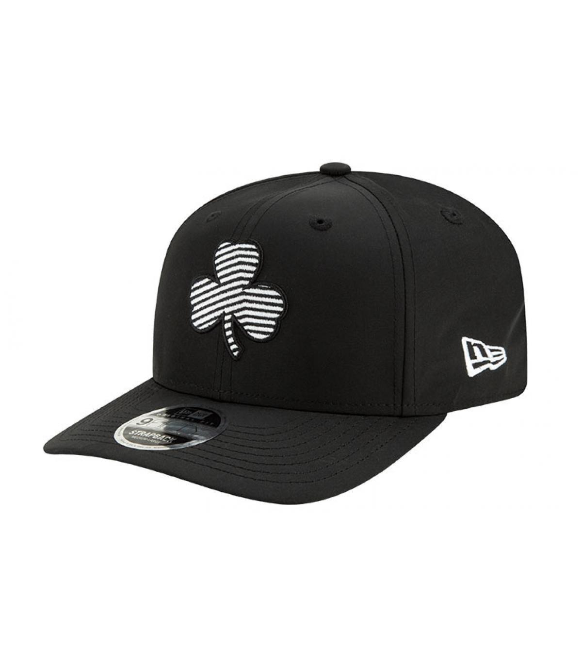 Celtics snapback zwart zebra-logo
