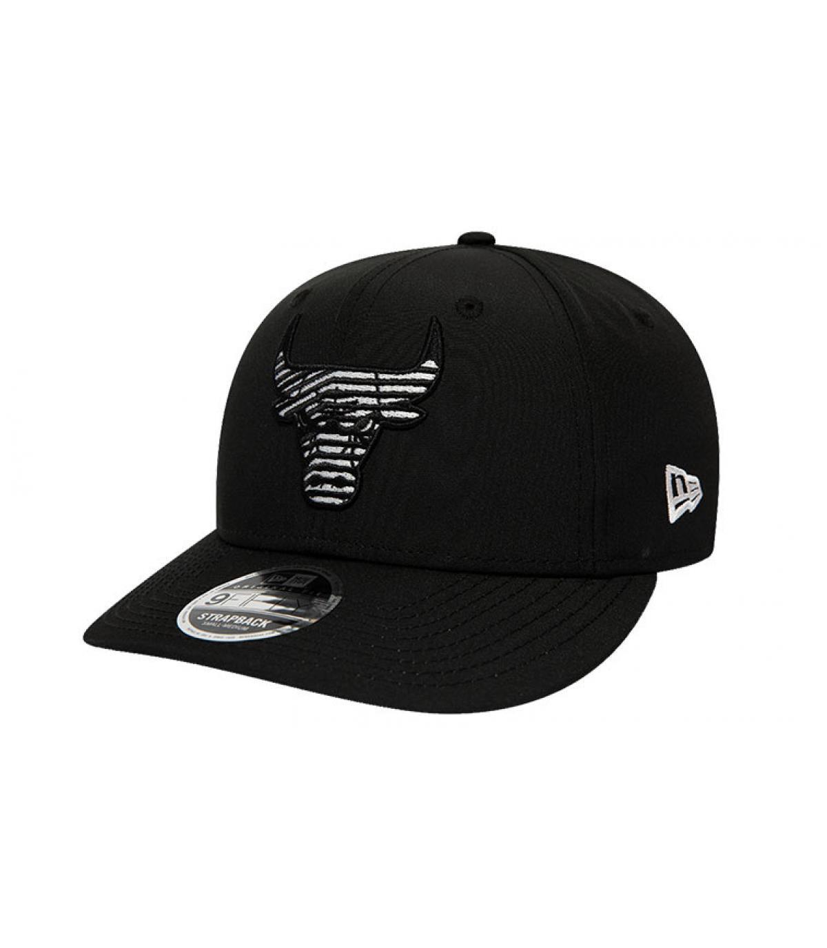 Snapback Bulls zwart zebra-logo