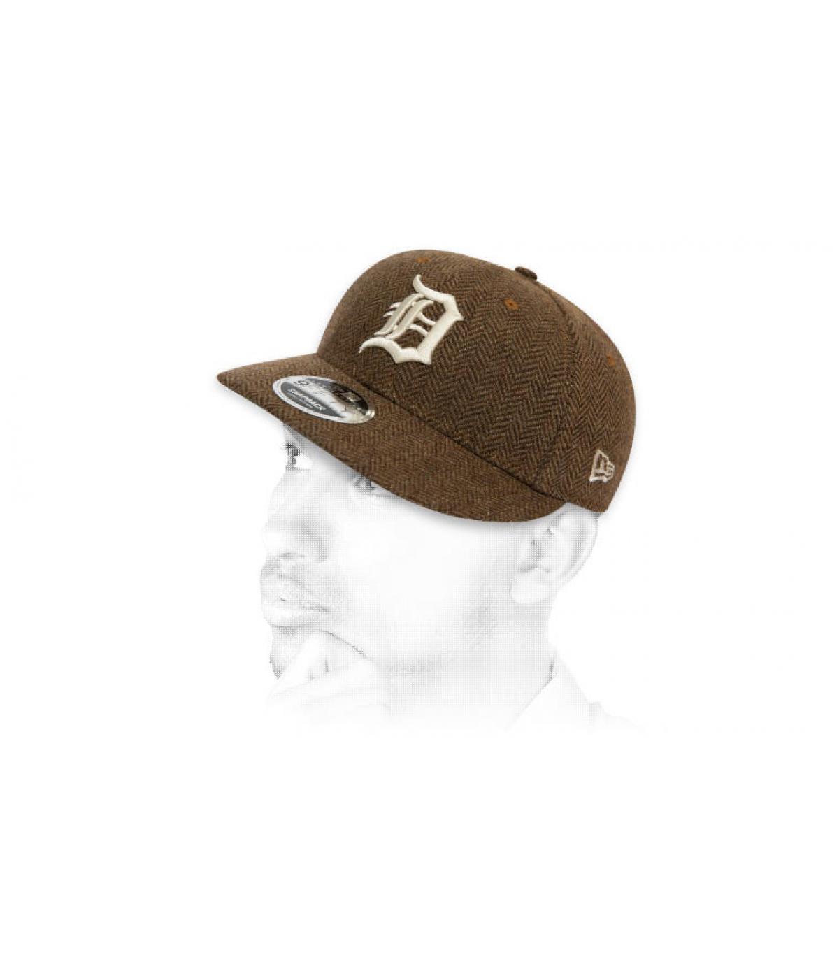 snapback D tweed bruin