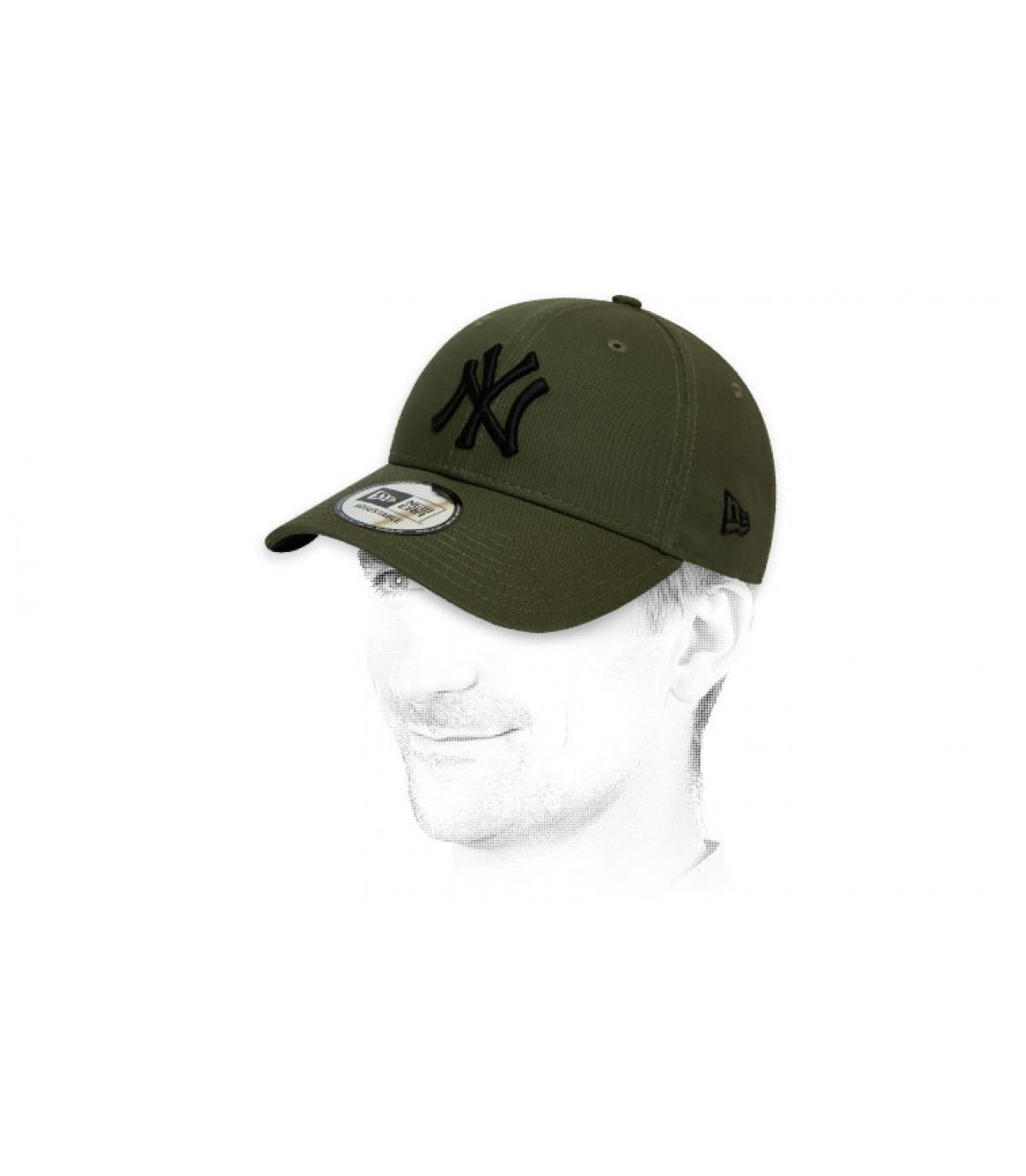 zwart groene NY cap