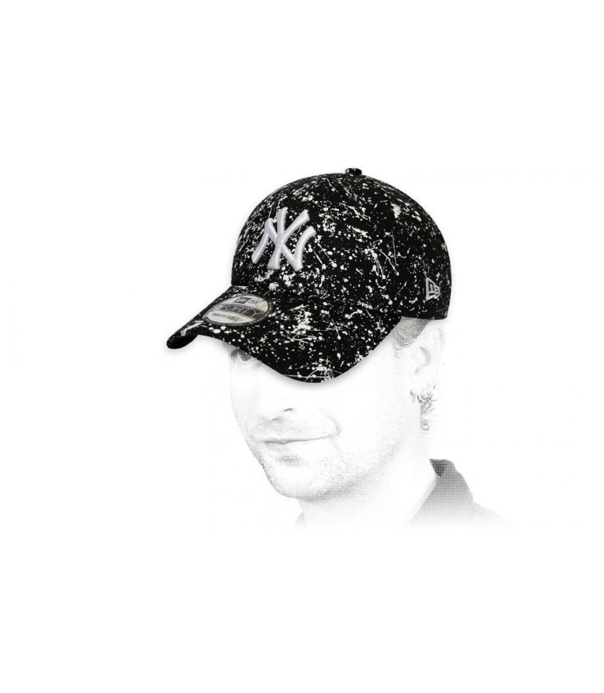 zwarte NY cap met opdruk