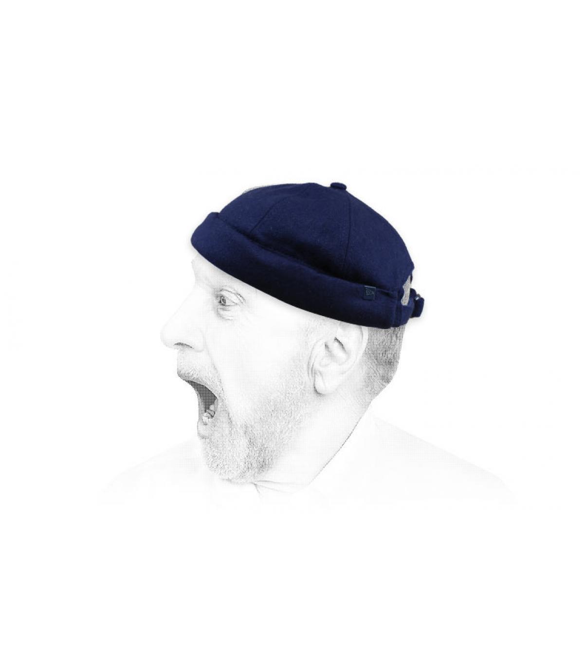Docker hoed blauwe wol New Era