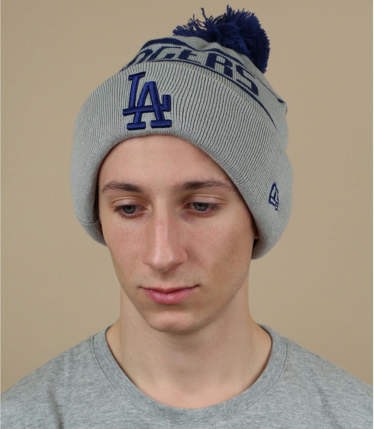 grijze pompon Dodgers hoed