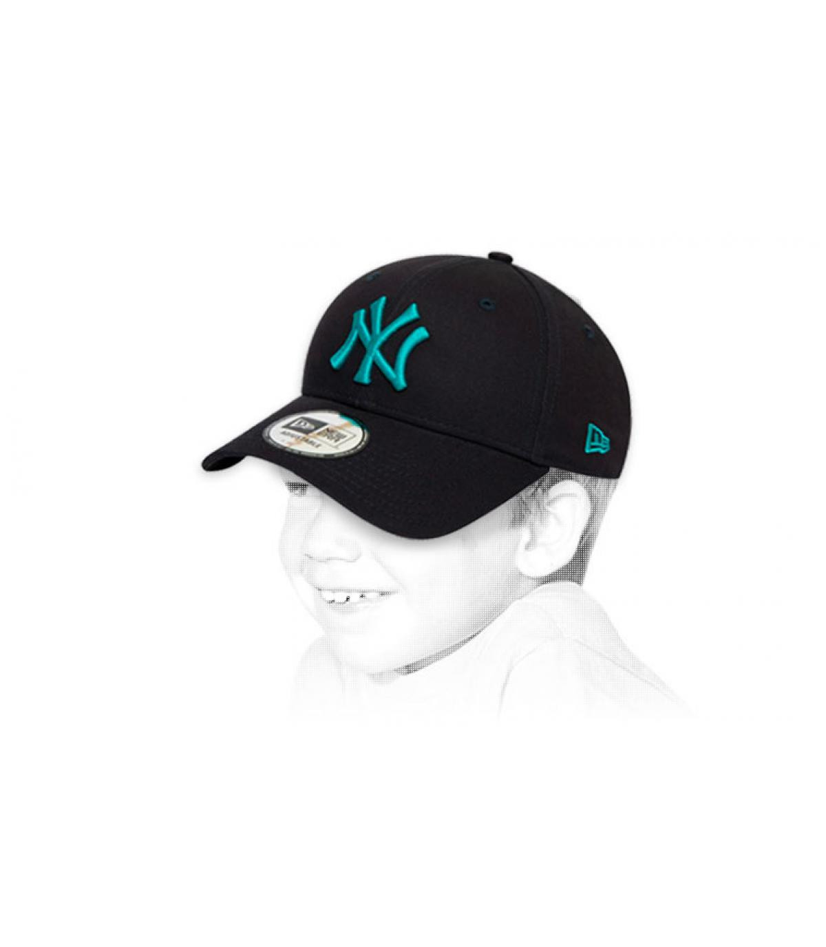 NY blauwe kindermuts