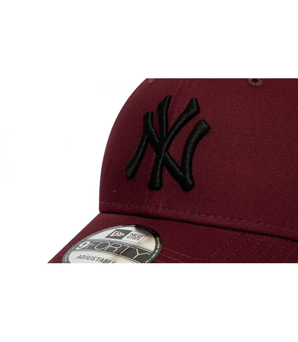 Details Kids League Ess NY 940 maroon black - afbeeling 3
