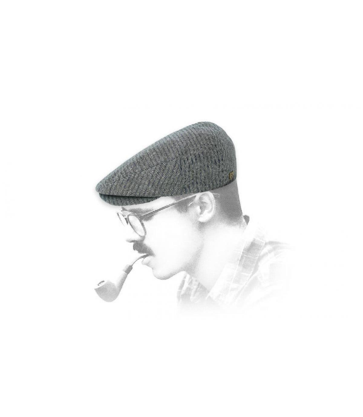 Brixton katoen grijze baret