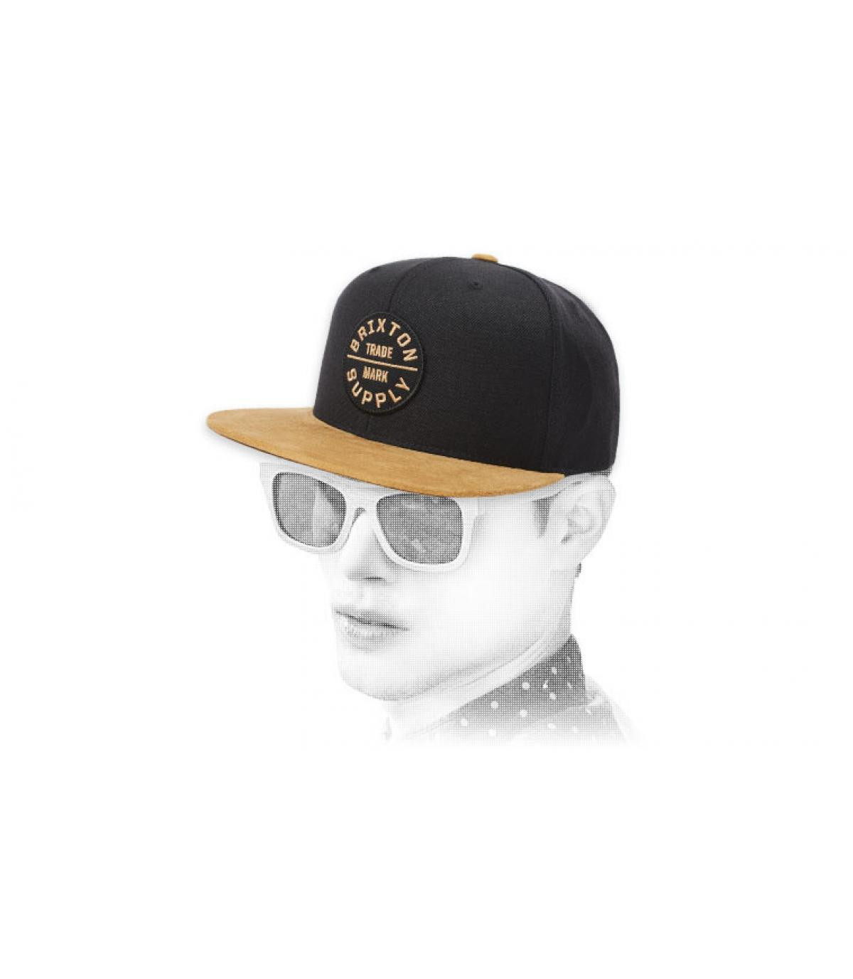 zwart Brixton snapback beige