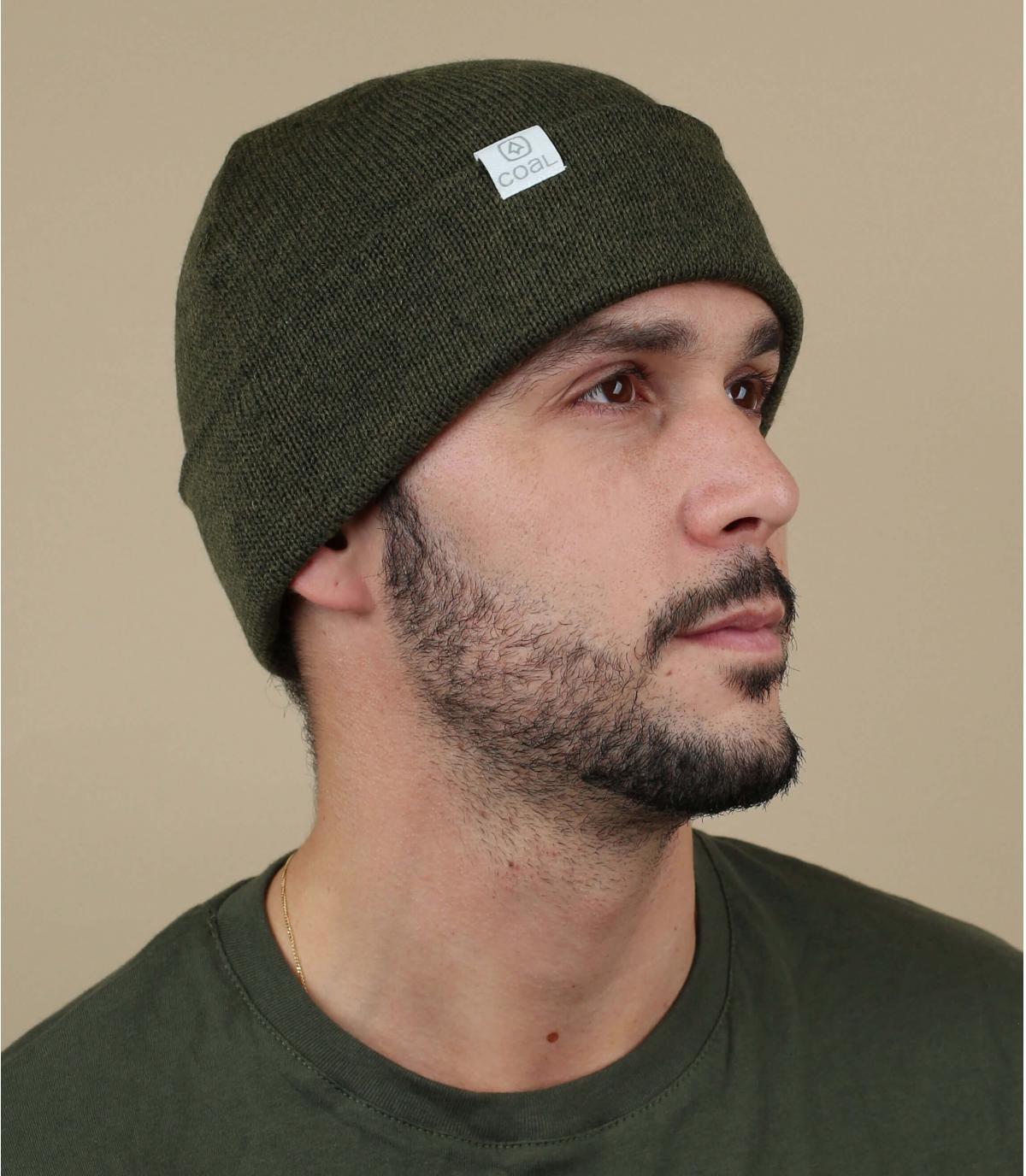 Coalgroene omkeerbare hoed