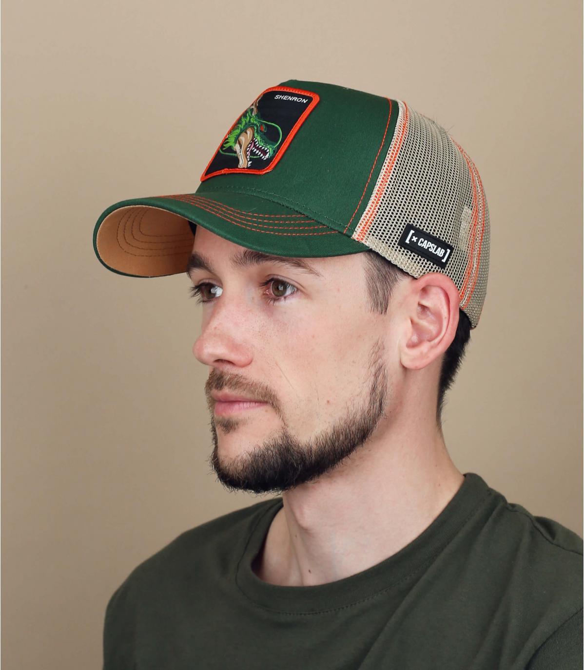 DBZ Shenron groene trucker