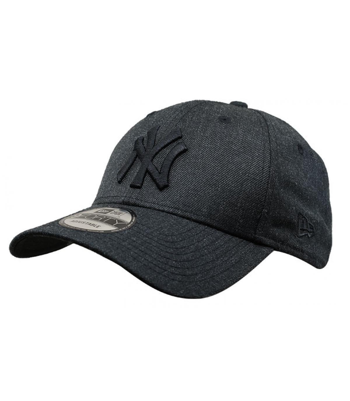 zwarte NY cap