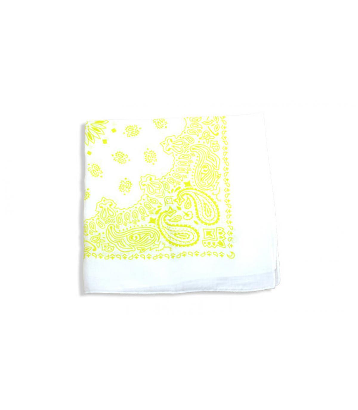 witte en gele bandana