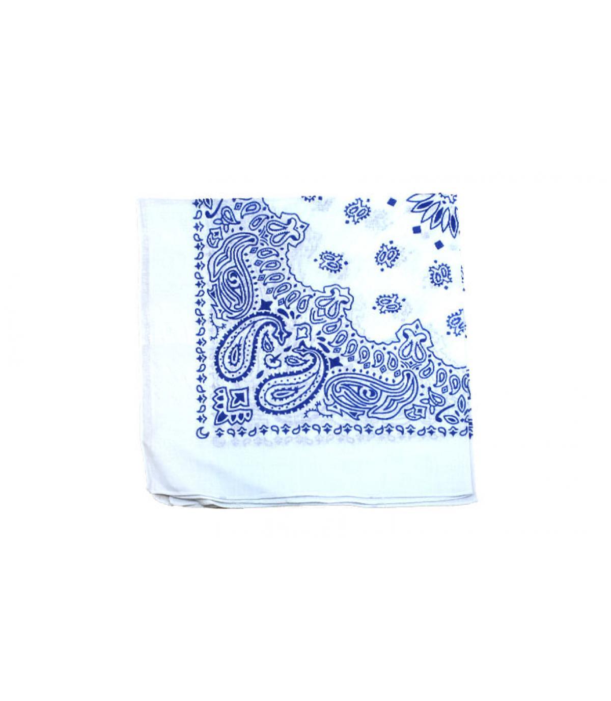 blauw witte bandana