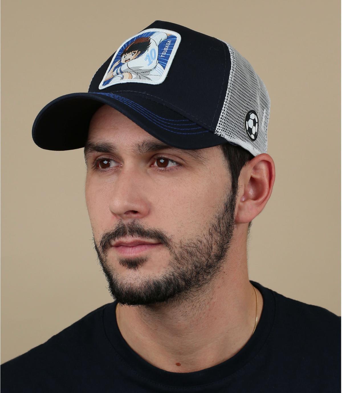 trucker Olivier Atton blauw wit